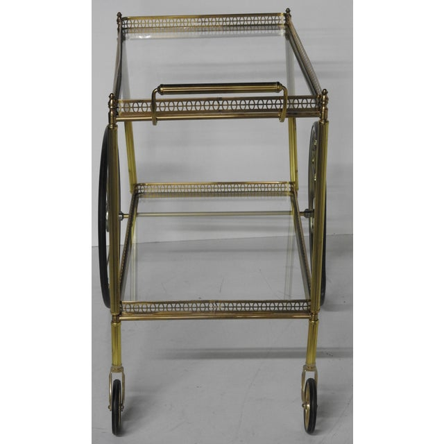 French Modern Rolling Bar Cart - Image 4 of 9