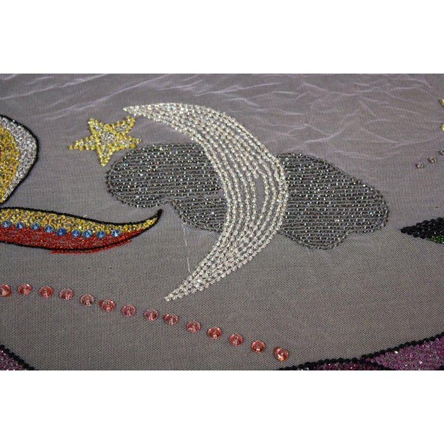 Late 20th Century Vintage Versace Beaded Hanging Textile Art For Sale - Image 10 of 11