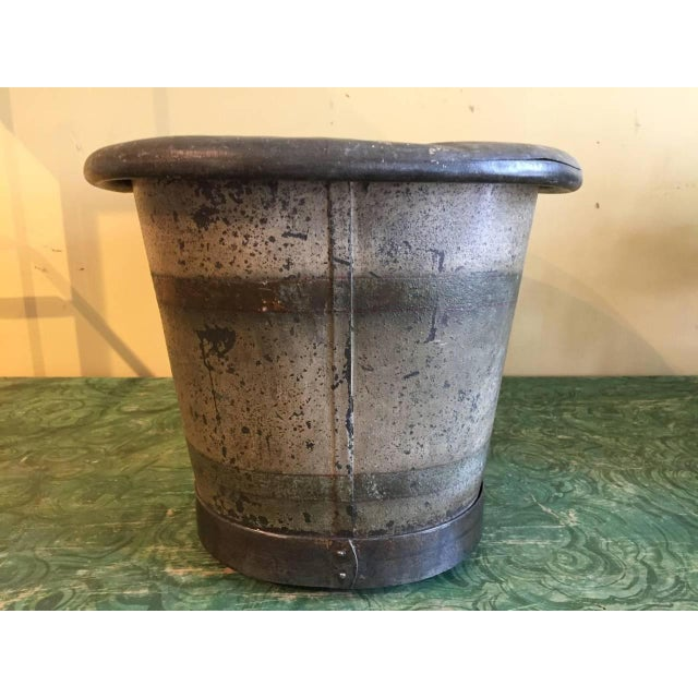 Early 19th Century Early 19th Century French Tole' Foot Bath For Sale - Image 5 of 8
