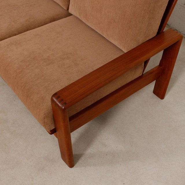 Vintage Teak Loveseat with New Upholstery - Image 7 of 10