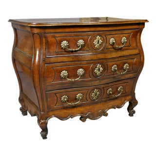 Louis XV Provincial Fruitwood Bombe Commode For Sale