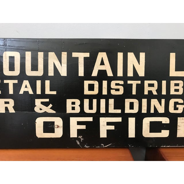 Industrial Vintage Hand Painted Lumber Yard Sign For Sale - Image 3 of 4