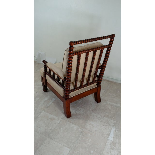 1980s Robert Scott Walnut Accent Chair For Sale - Image 9 of 11