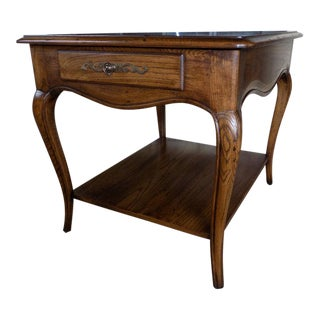 Henredon Four Centuries Country French Oak End Table For Sale