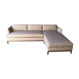 Mid-Century Style Custom Reversible Sectional For Sale