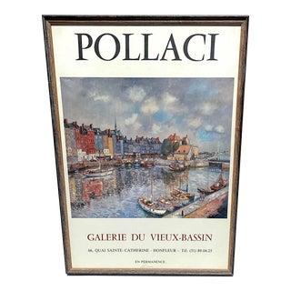 Pollaci Galerie Du Vieux-Bassin Exhibition Framed Poster For Sale