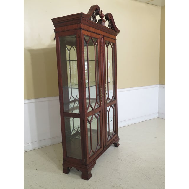Wood Henkel Harris Model #2348 Mahogany Curio Display Cabinet For Sale - Image 7 of 12