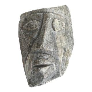 Vintage Cubist Style Marble Head Sculpture