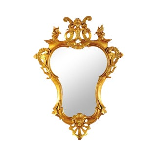 18th Century Gilt Rococo Mirror For Sale