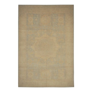 """Classic Mamluk Hand Knotted Pastel Toned Wool Area Rug - 6'6"""" X 9'7"""" For Sale"""