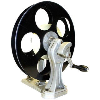 Vintage Motion Picture Film Laboratory Flange Rewinder. Circa 1930s. Display As Sculpture.