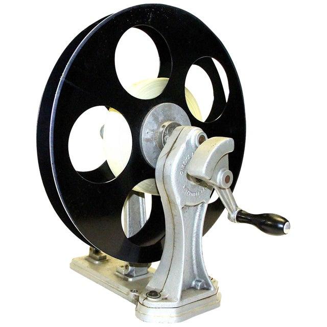 Vintage Motion Picture Film Laboratory Flange Rewinder. Circa 1930s. Display As Sculpture. For Sale