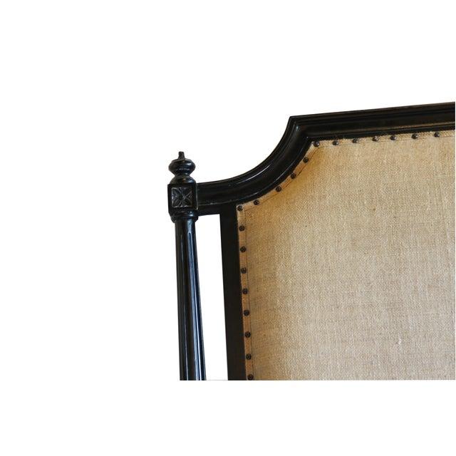 Burlap Upholstered Queen Headboard - Image 2 of 3