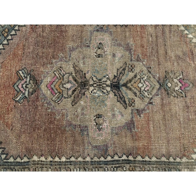 Textile 1960s Turkish Bohemian Antique Faded Floor Rug - 3′1″ × 5′1″ For Sale - Image 7 of 11