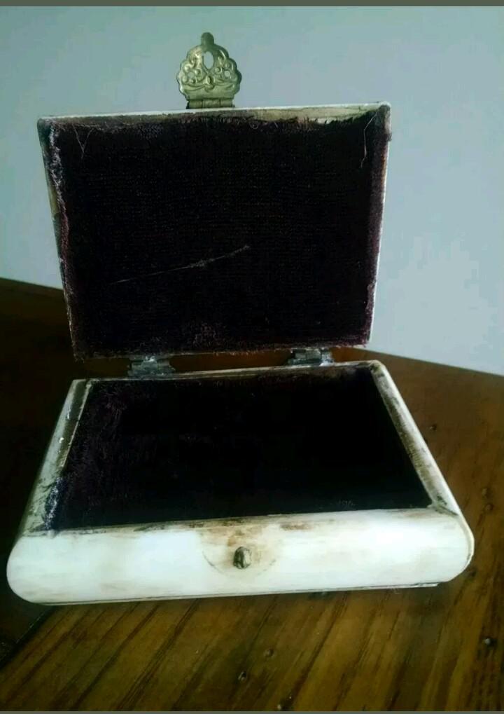 Antique Ivory Trinket Box Chairish