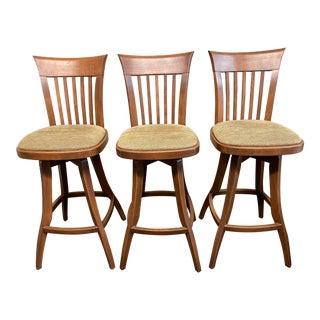 Dinec Birch Swivel Barstools - Set of 3 For Sale