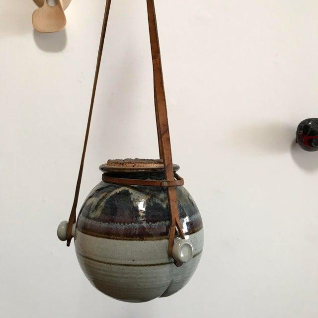Rustic Vintage Hanging Ceramic Water Vessel For Sale - Image 3 of 10