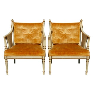 Hollywood Regency Style Arm Chairs - a Pair For Sale