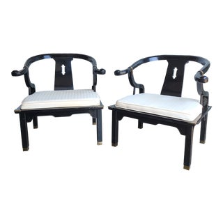 Asian Inspired Ming Chairs - a Pair For Sale