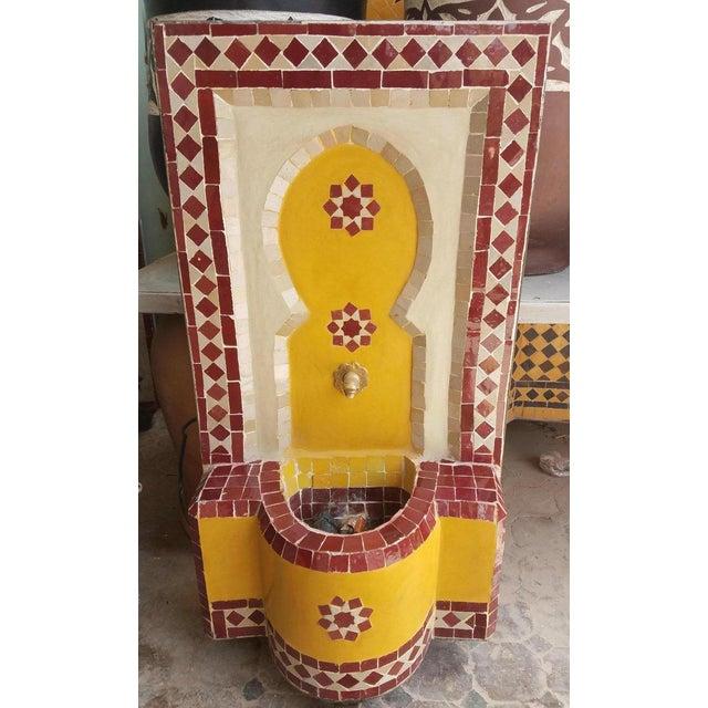 Moroccan Tri-Color Mini Fountain For Sale - Image 4 of 6