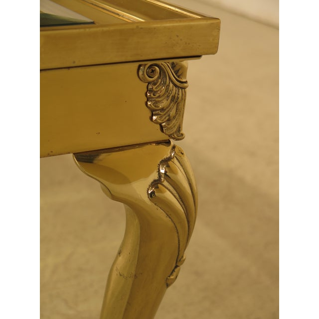 LaBarge Brass & Glass Coffee or Cocktail Table For Sale In Philadelphia - Image 6 of 13