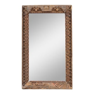Carved Himalayan Tribal Mirror For Sale