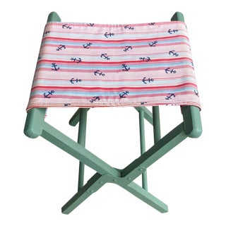 Nautical Folding Camp Stool For Sale
