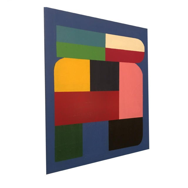 Abstract Brooks Burns Original Abstract Geometric Paintings - A Pair For Sale - Image 3 of 5