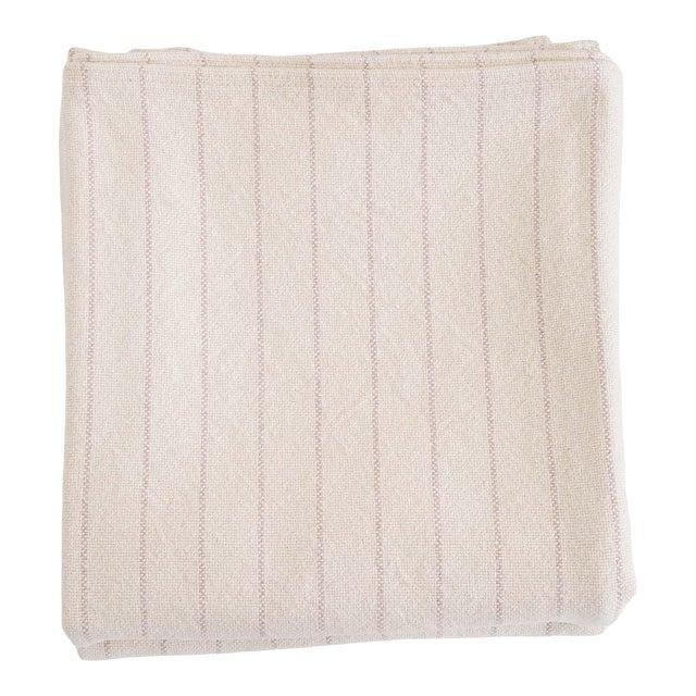 Pinstripe Blanket in Blush, King For Sale