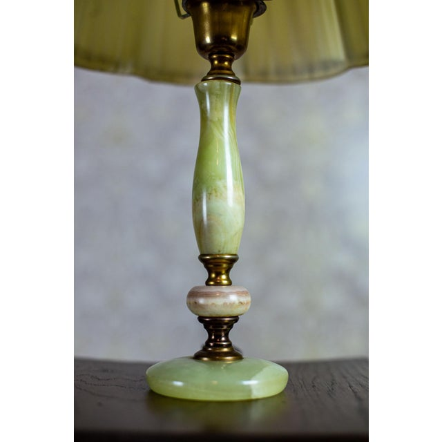 Mid-Century Modern 1950s Onyx Table Lamp For Sale - Image 3 of 10
