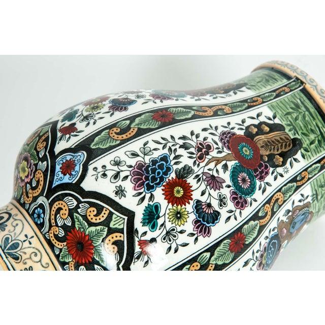 Vintage Dutch Porcelain Covered Urn For Sale - Image 9 of 13