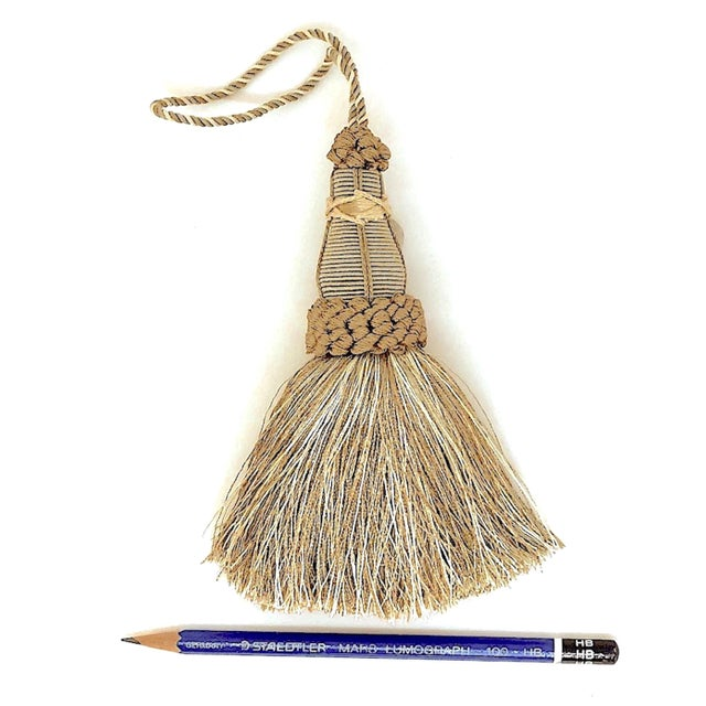 Key Tassel in Khaki and Bronze With Ruche Trim For Sale In New York - Image 6 of 10