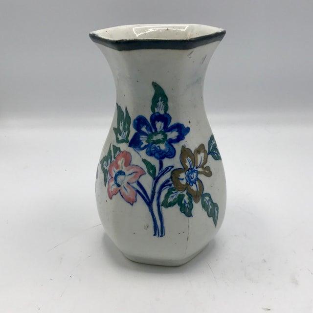 Edo Period Japanese Stoneware Vase For Sale - Image 5 of 7