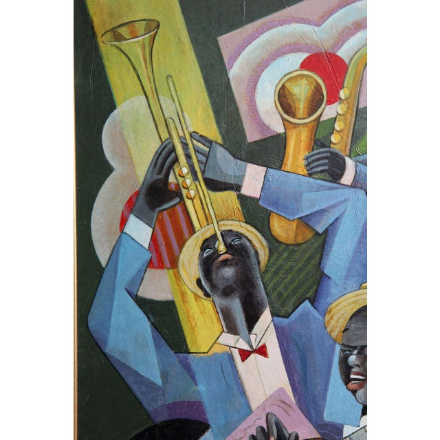 """Early 20th Century Bela De Kristo """"Jazz Trio"""" Painting For Sale - Image 5 of 8"""