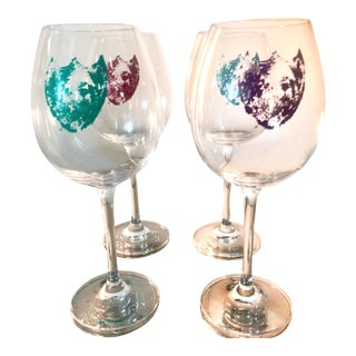 Limited Edition Andy Warhol for Dom Perignon Wine Glass - Set of 4 For Sale