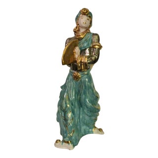 Mid-Century Italian Terra Cotta Fan Dancer For Sale