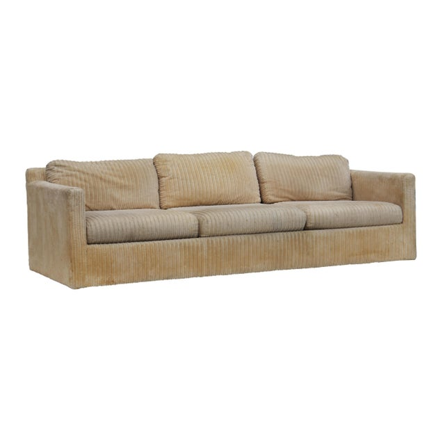 Boho Chic Parsons Sofa by Milo Baughman for Thayer Coggin For Sale - Image 3 of 11