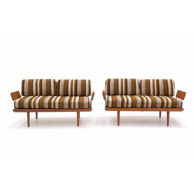 Three-Piece Peter Hvidt & Orla Mølgaard-Nielsen Sofa/Daybed and Pair of Settees - Image 4 of 10