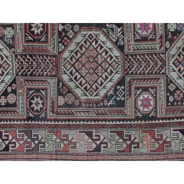 """Antique Leon Banilivi Caucasian Rug - 4'3"""" x 7'8"""" - Image 4 of 5"""