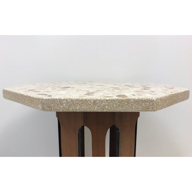 Harvey Probber Harvey Probber Terrazzo Top Side Table For Sale - Image 4 of 6