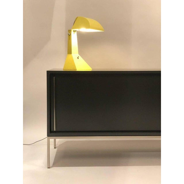 Not Yet Made - Made To Order Re 379 Credenza in Wrought Iron With White Doors on Black Base For Sale - Image 5 of 13