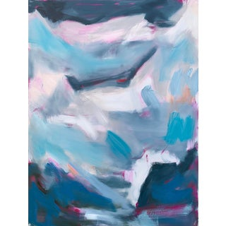 """""""High Seas 2"""" by Trixie Pitts Large Abstract Oil Painting For Sale"""