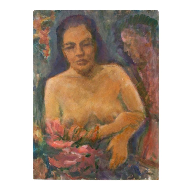 Original Nude of a Woman Portrait Painting - Image 1 of 4