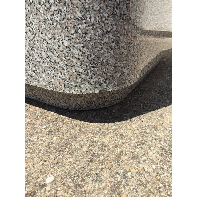 1980s AbstractGranite Laminate Modular Pedestal Table Set - 2 Pieces For Sale - Image 10 of 11