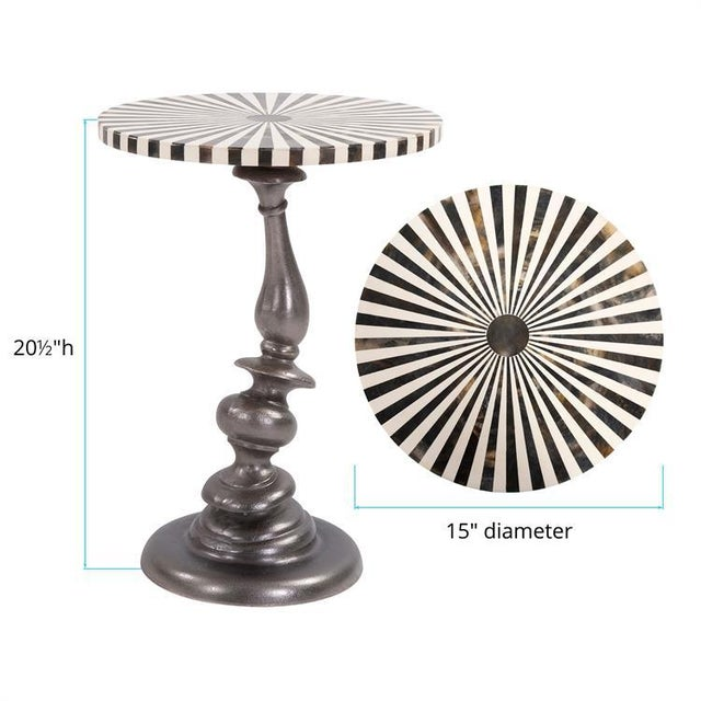 2020s Kenneth Ludwig Drunken Metal Martini Table For Sale - Image 5 of 6