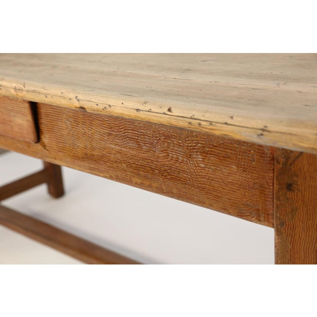 Gold Faux-Grain Painted French Farm Table For Sale - Image 8 of 13