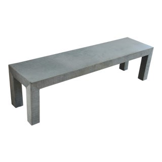 Mid-Century Modern Upholstered Coffee Table For Sale