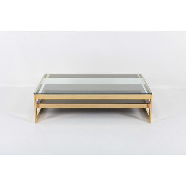 Belgo Chrome Belgo Chrome Golden G Coffee Table Extra Large For Sale - Image 4 of 12