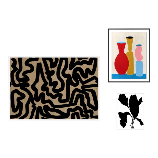 Evening Abstraction Gallery Wall, Set of 3 For Sale