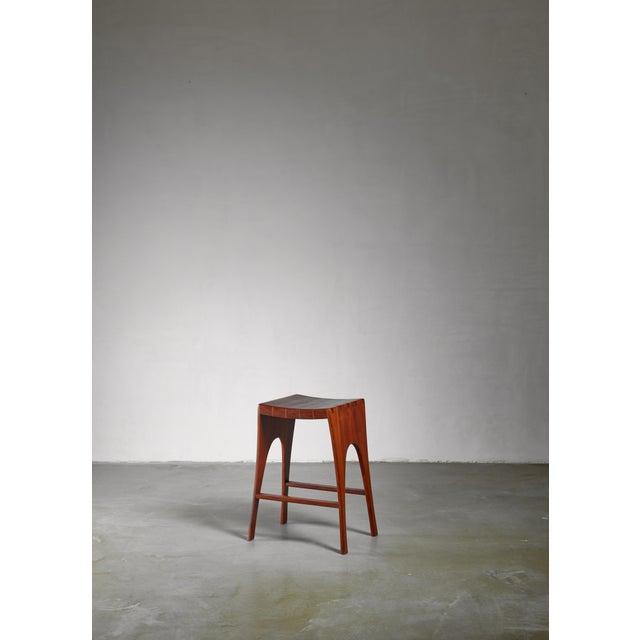 John Nyquist John Nyquist Studio Craft Stool, Usa, 1960s For Sale - Image 4 of 4